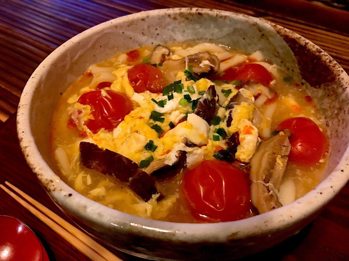[ヒルナンデス]サンラータンうどんレシピ!卵スープの素ともずく酢
