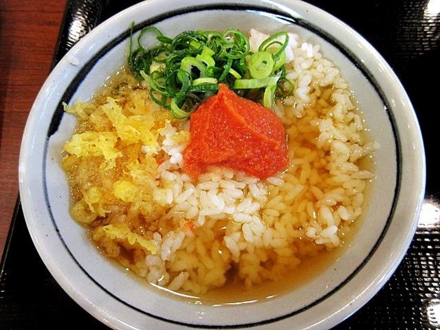丸亀製麺 210円で絶品明太子だし茶漬け!裏技メニュー